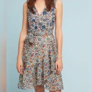 Ranna Gill Botania Beaded Wrap Dress|Anthropologie